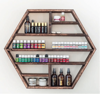 Essential Oil Shelves